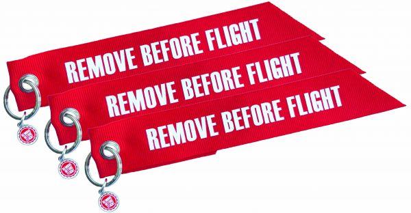 3er-Set - Fähnchen-Anhänger - Remove Before Flight