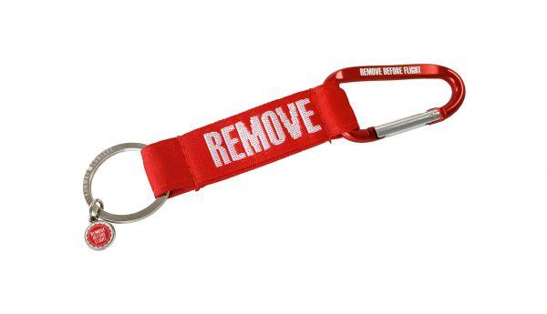 Karabiner-Strap - Remove Before Flight