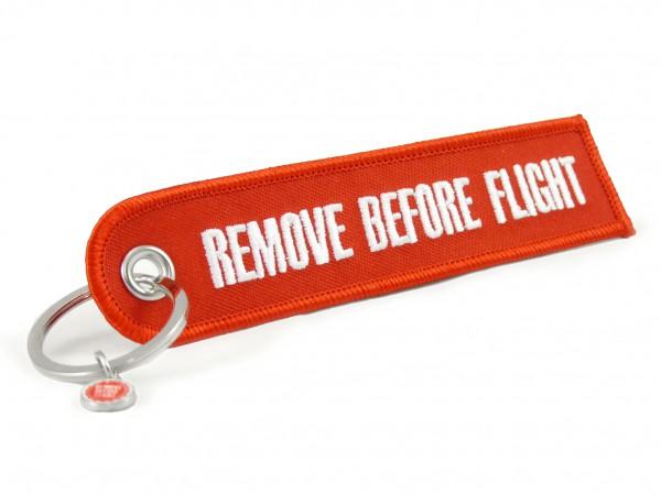 Schlüsselanhänger - Remove Before Flight - rundes Ende