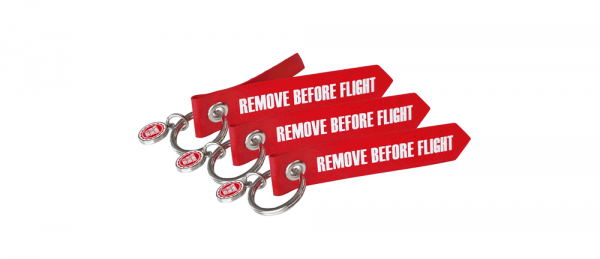 3 Anhänger - Originalmaterial - Remove Before Flight - Mini-Format