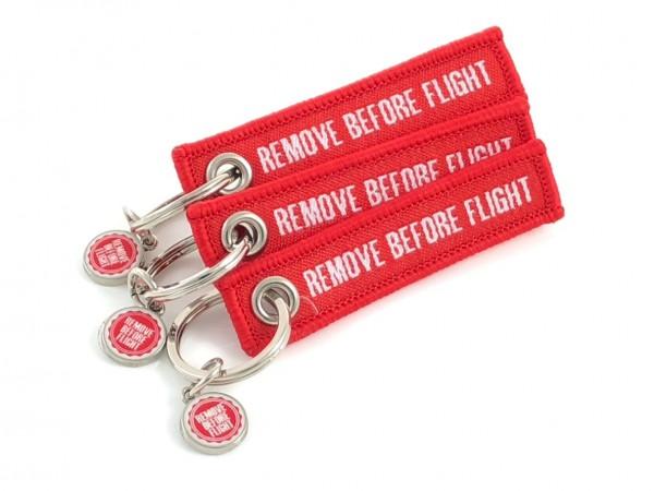 Mini-Schlüsselanhänger - Remove Before Flight - 3er-Set