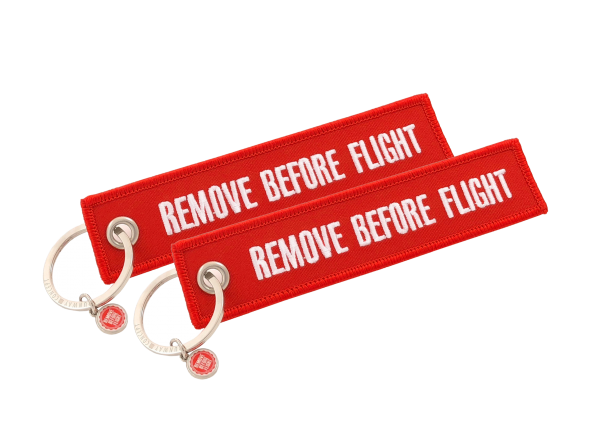 2 Anhänger - Textil - Remove Before Flight - Normal Format