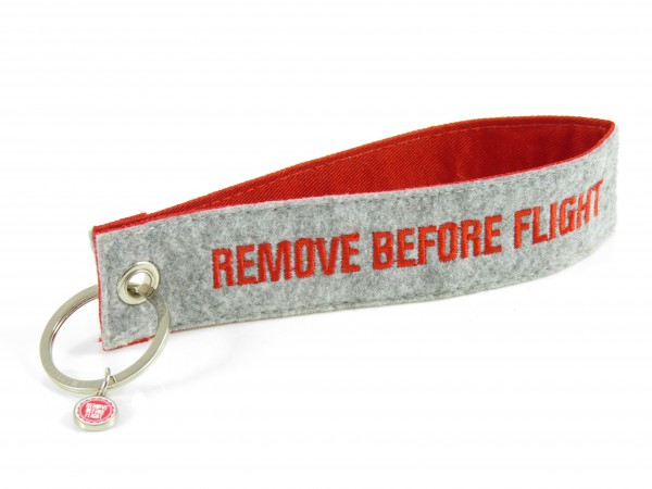Filz-Schlüsselanhänger - Remove Before Flight