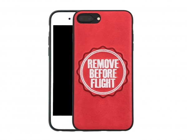 iPhone Hülle - Leder-Case - Remove Before Flight