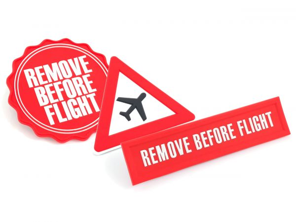 3 Magnete-Set - Remove Before Flight