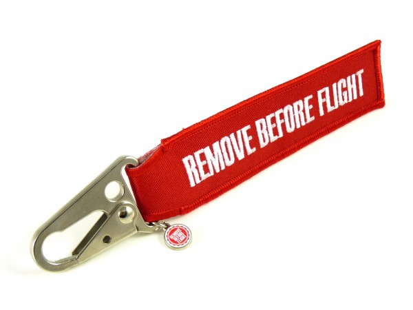 Schlüsselanhänger - Remove Before Flight - Schnabel-Karabiner